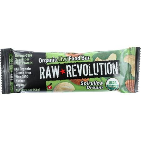 Raw Revolution Spirulina & Cashew Food Bar, 1.8 Oz (Pack Of 12)