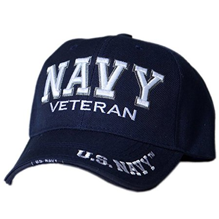 US Honor Official Embroidered Veteran Shadow Navy Baseball Caps Hats ()