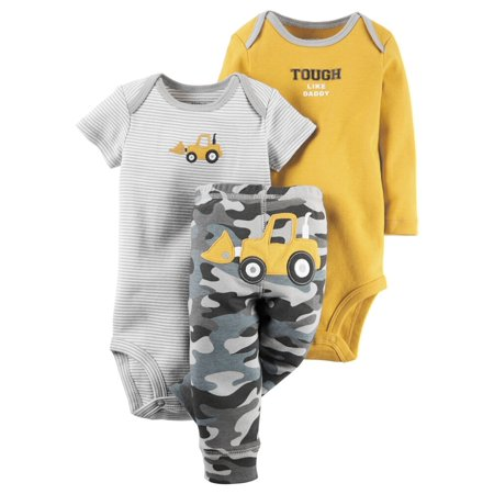 Carters 3-Piece Little Character Set Camo Construction Orange