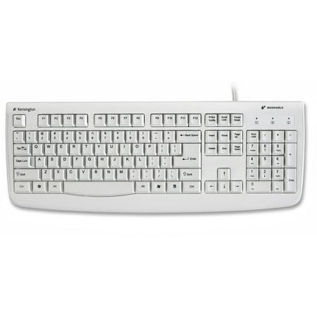 Kensington, KMW64406, Washable Antimicrobial Keyboard, 1, White (Keyboard White)