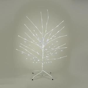 Kurt Adler Pre-Lit 6 Twig Artificial Christmas Tree with 120 LED White Lights