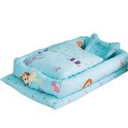 Boyijia 6Pcs Portable Baby Bed Cushion Set Travel Crib Newborn Nest Sleeping Support Head Pillow, Type 4