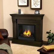 Real Flame Silverton Indoor Gel Fireplace In Dark Mahogany