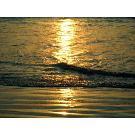 Framed Art for Your Wall of Mar of Course Ocean Per Sunset Waves 10x13 (Course Wave)
