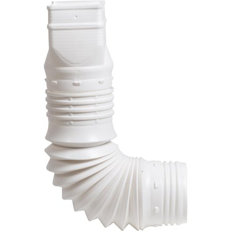 Amerimax Home Products 2x3 White Downspout Adapter ADP53229