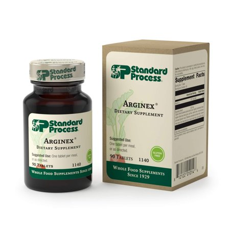Standard Process - Arginex - 990 IU Vitamin A, Gluten Free Liver and Kidney Supplement, Promotes Healthy Blood Vessels, Liver Health, and Kidney - 90 Tablets ()