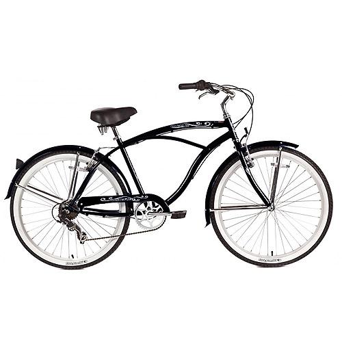 "26"" Micargi Pantera Men's Beach Cruiser Bike, Black"