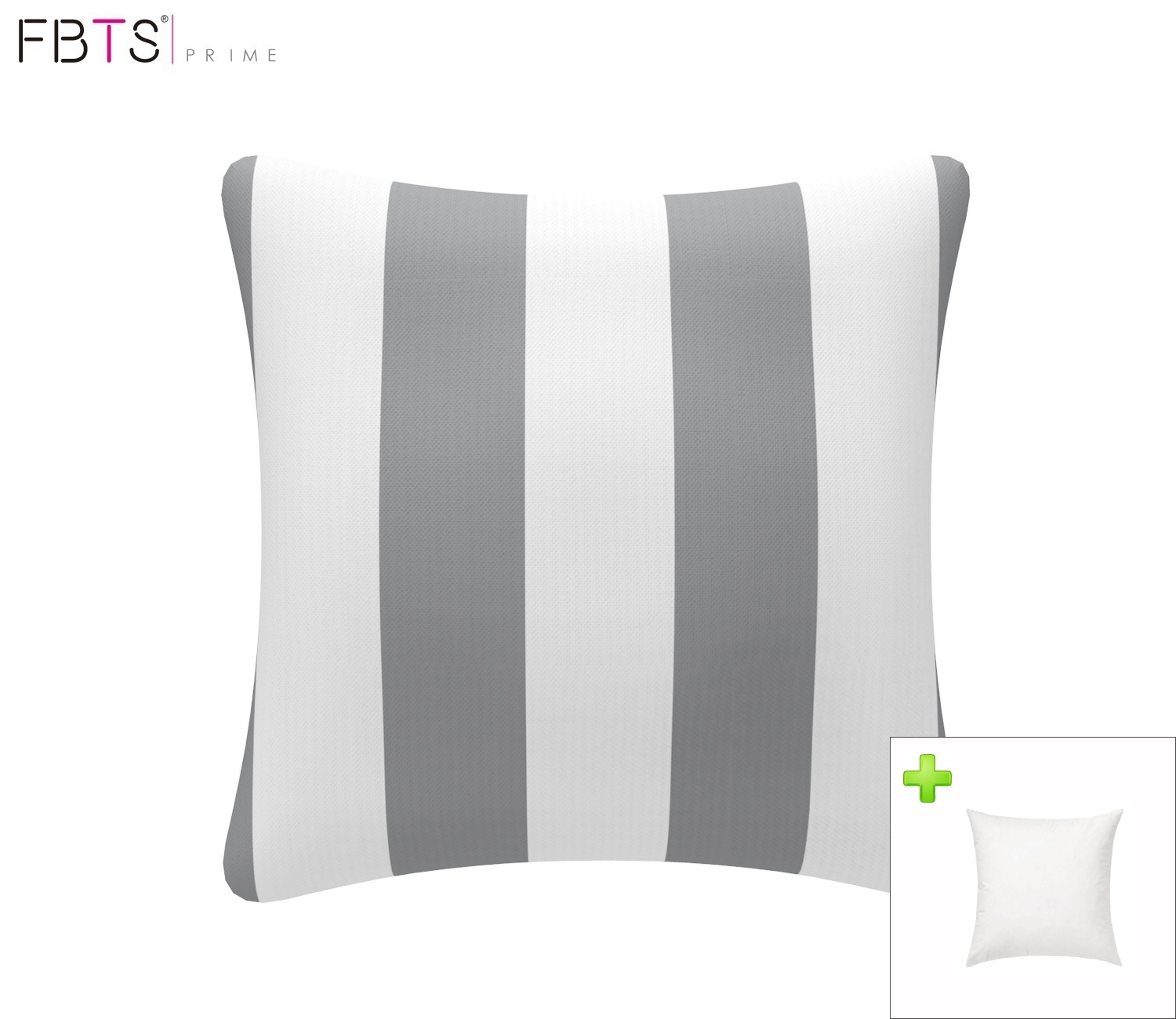 FBTS Prime Outdoor Decorative Pillows with Insert Red and White Stripe Patio Accent Pillows Throw Covers 18x18 Inches Square Patio Cushions for Couch Bed Sofa Patio Furniture