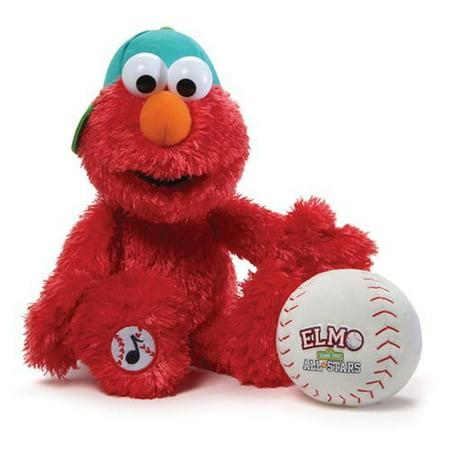 Gund Sesame Street Baseball Player Elmo Animated Stuffed Toy