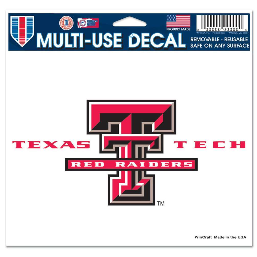 "Texas Tech Red Raiders Ultra Decal 5"" x 6"""