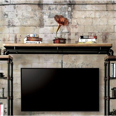 Furniture of America Jarod Industrial TV Bridge in Antique Black