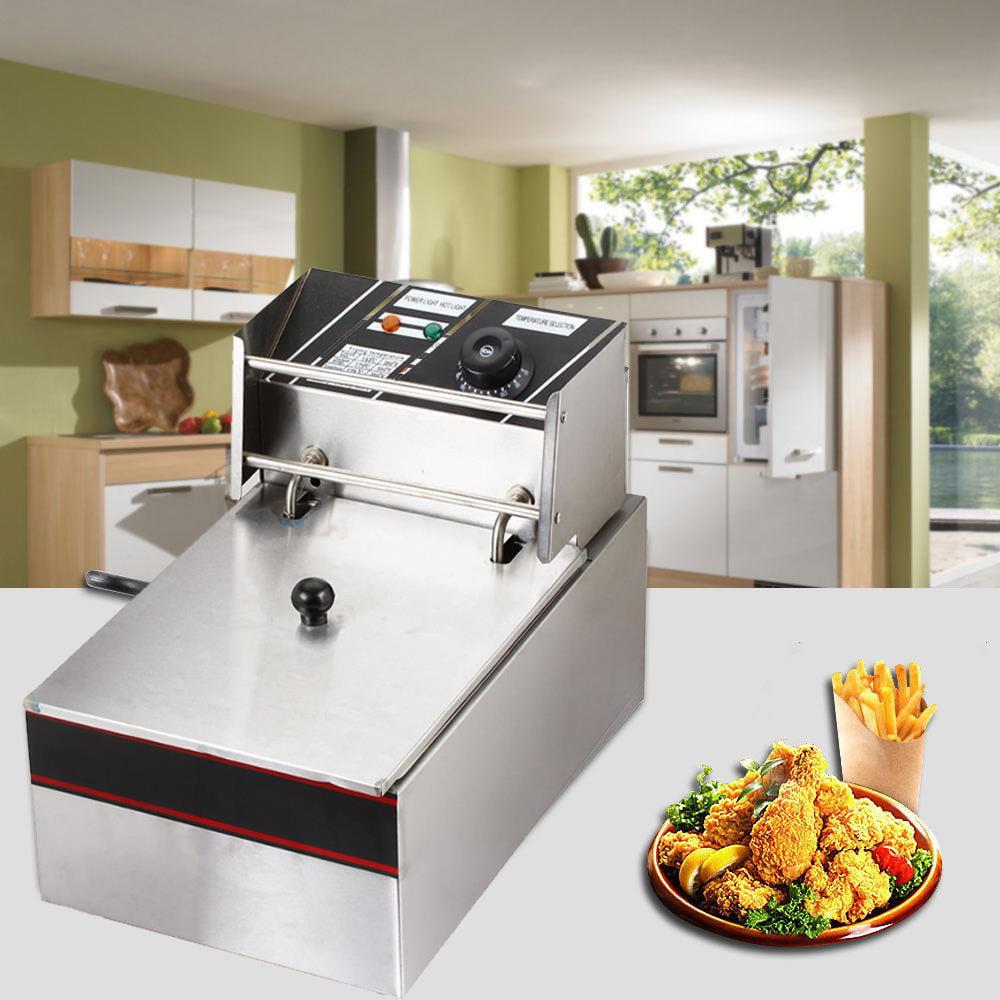 Ktaxon 2500W 6 Liter Electric Countertop Deep Fryer Tank Basket Commercial Restaurant