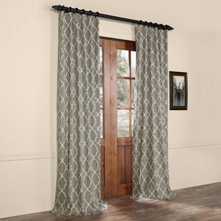 (Alcott Hill Pocono Printed Cotton Rod Pocket Single Curtain Panel)