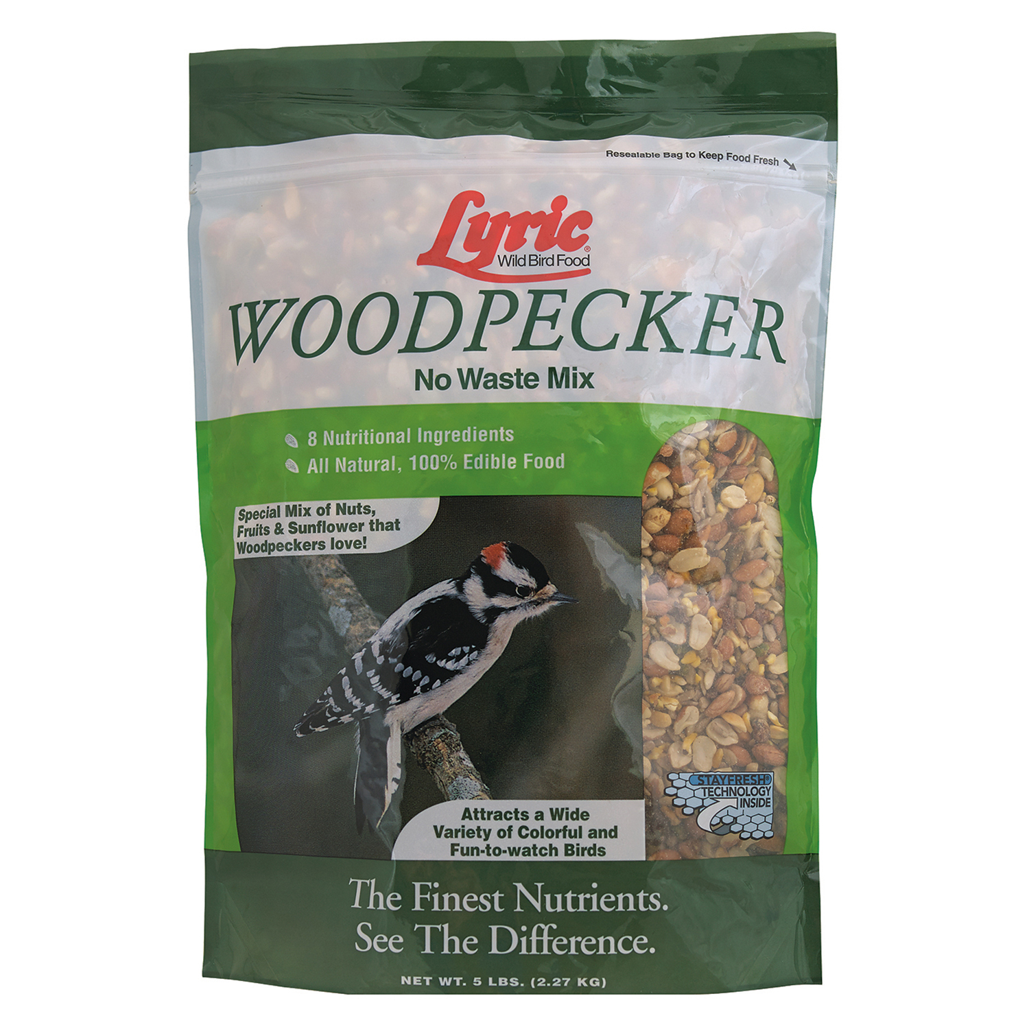 Lyric Woodpecker No Waste Wild Bird Mix - 5 lb. bag