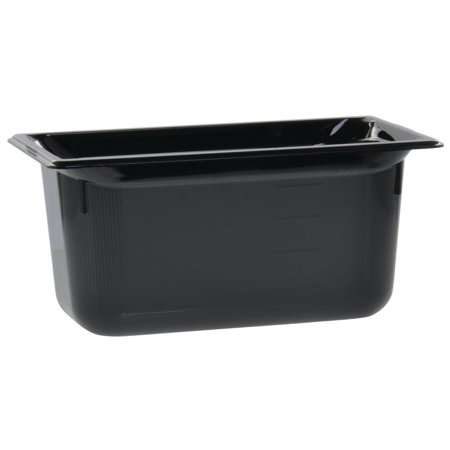 Vollrath Super Pan® Food Pan 1/3 Size Black Plastic High-Temperature - 6