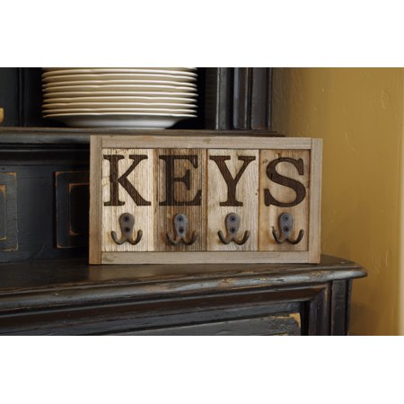- AllBarnWood Wall-Mounted Rustic Key Rack/Key Holder