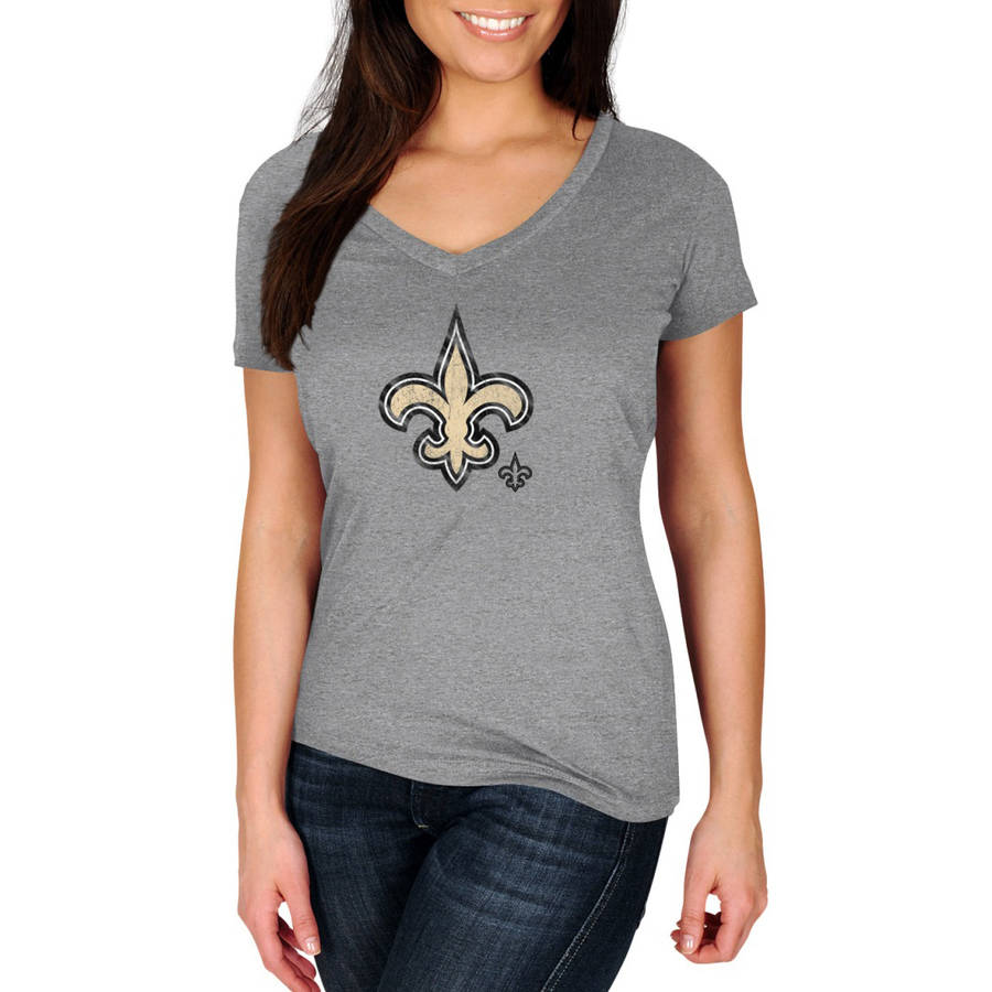 NFL New Orleans Saints My Favorite Team Women's Plus Size V-Neck Tee