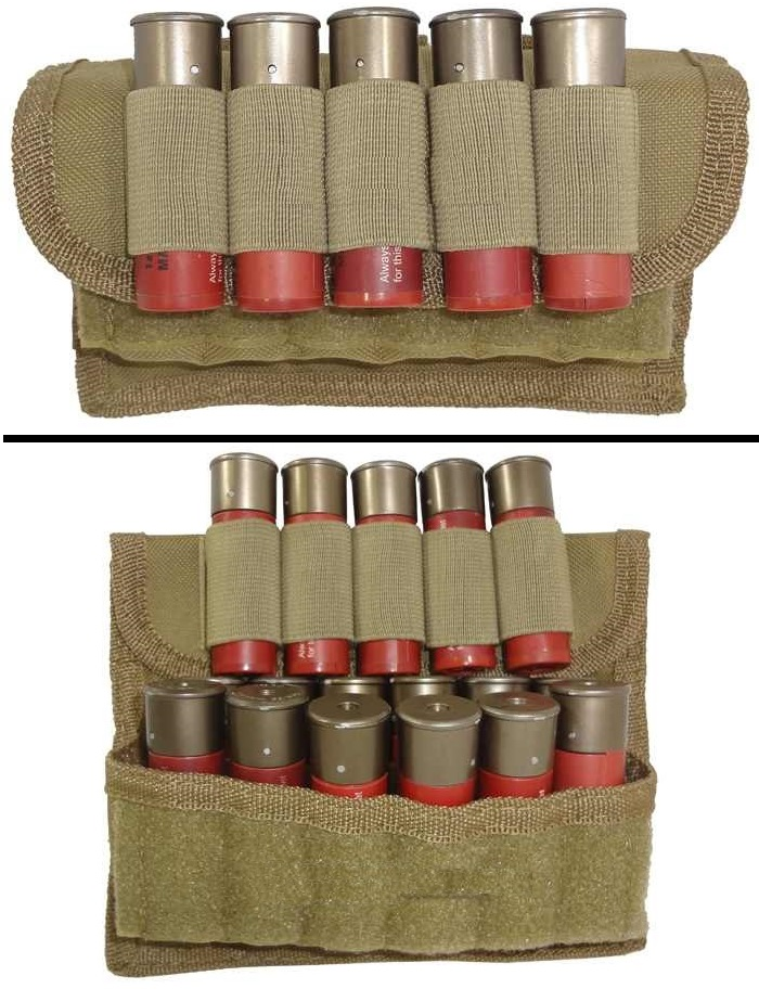 Ultimate Arms Gear Tactical Desert Tan 17 Shot Shell Ammunition Ammo Reload Carrier Pouch MOLLE, PALS & Belt Loop by