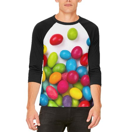 Halloween Jelly Beans Mens Raglan T Shirt](Halloween Eyeball Jelly)