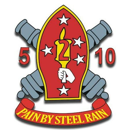 US Marine 2nd Marine Division 5th Battalion 10th Marine Regiment Decal Sticker 3.8