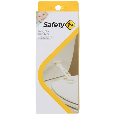 Toilet Lock - Safety 1st Babyproofing Swing Shut Toilet Lock, White