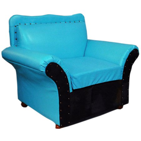 WESTERN GENUINE TURQUOISE LEATHER SOFA CHAIR FURNITURE