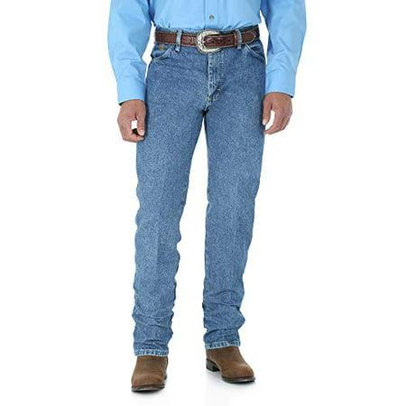 Wrangler Men's George Strait Cowboy Cut Original Fit Jean, Stone Wash, 36W x 30L