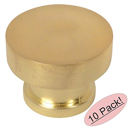 (Cosmas 704BB Brushed Brass Round Contemporary Cabinet Hardware Knob - 1-1/4
