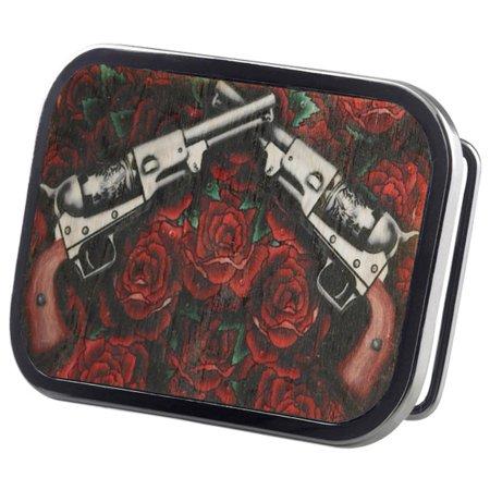 Pistols & Roses Wood Belt Buckle Iron Maiden Belt Buckle
