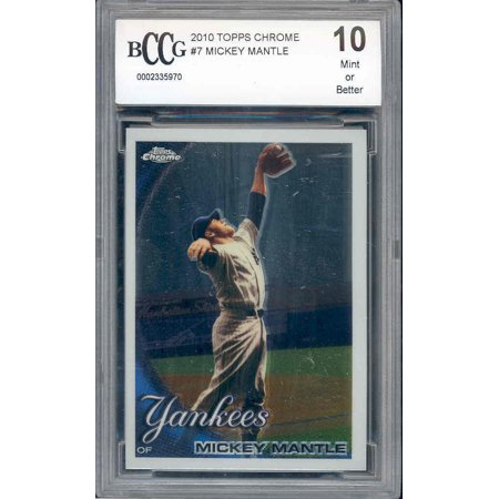 2010 topps chrome #7 MICKEY MANTLE new york yankees BGS BCCG (Mickey Mantle 1952 Topps Rookie Card Value)