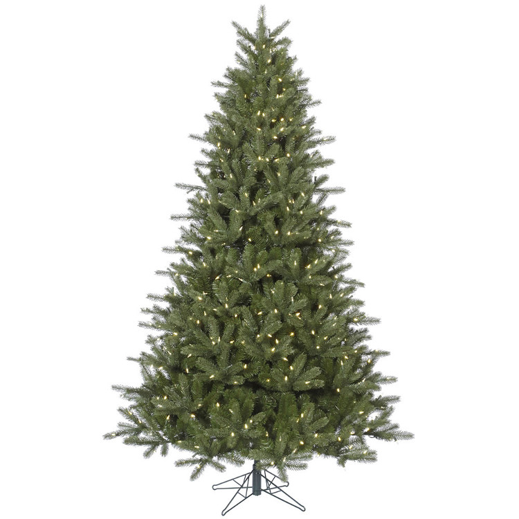 12' Pre-Lit Kennedy Fir Artificial Christmas Tree – Warm White LED Lights