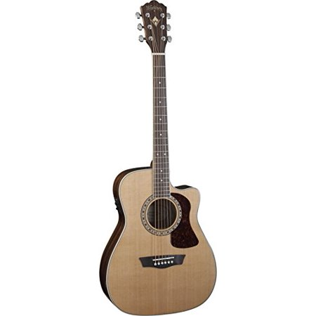 Washburn Heritage Series HF11SCE Cutaway Folk Style Acoustic Guitar, Natural