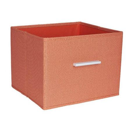 Household Essentials Open Storage Bin with Aluminum Handles