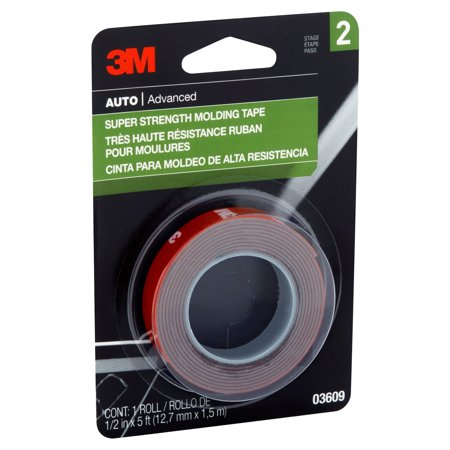 3m super strength molding tape 1 2 in x 5 ft best top and under car coatings. Black Bedroom Furniture Sets. Home Design Ideas