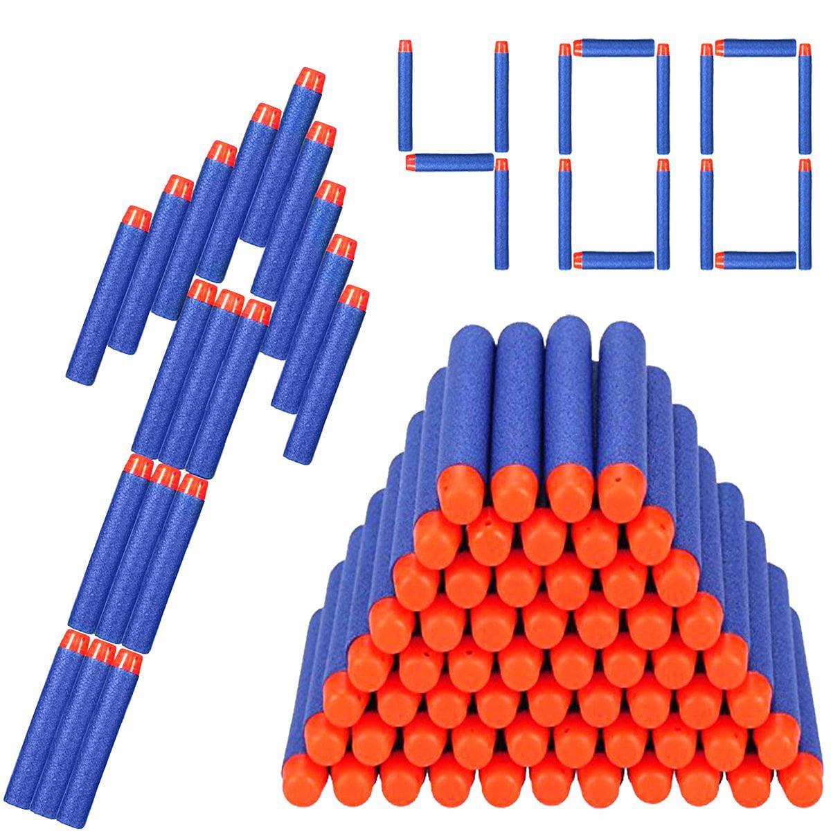 400pcs 7.2cm Soft Safety EVA Foam Refill Bullets Darts for Kids Toy Gun (Blue)