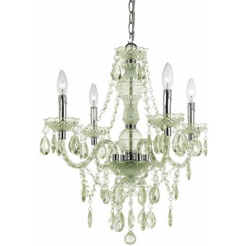 AF Lighting Naples 4-Light Mini Chandelier, Seafoam