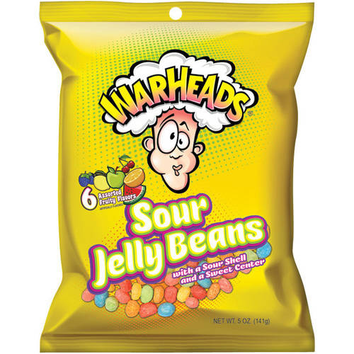 WarHeads Sour Jelly Beans, 5 oz