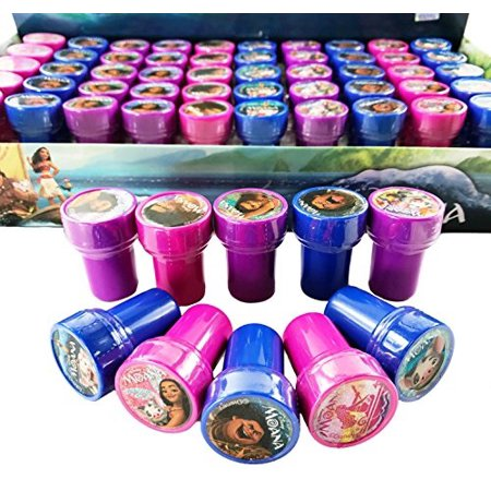 Disney Moana Self-inking Stamps Birthday Party Favors 30 Pieces (30 Birthday)