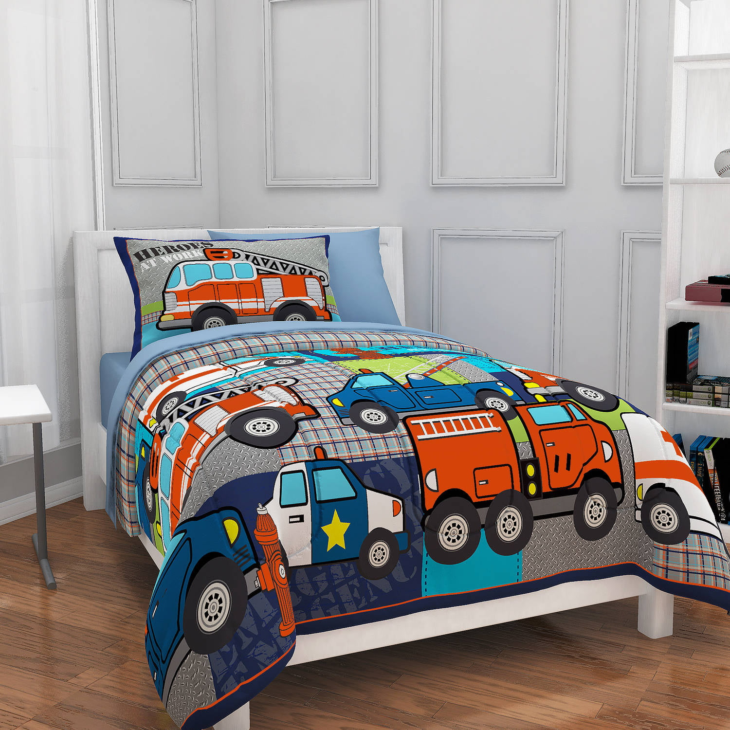 Mainstays Kids Heroes at Work Bed in a Bag Bedding Set by Idea Nuova