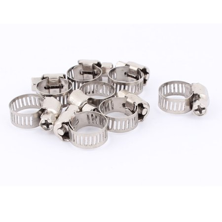 Adjustable 6-12mm Range Steel Wire Water Tube Hose Clamp 8Pcs Hose Clamp Wire Type