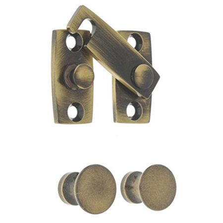 idh by St. Simons 21021-005 Professional Grade Quality Genuine Solid Brass Shutter bar Kit, Antique