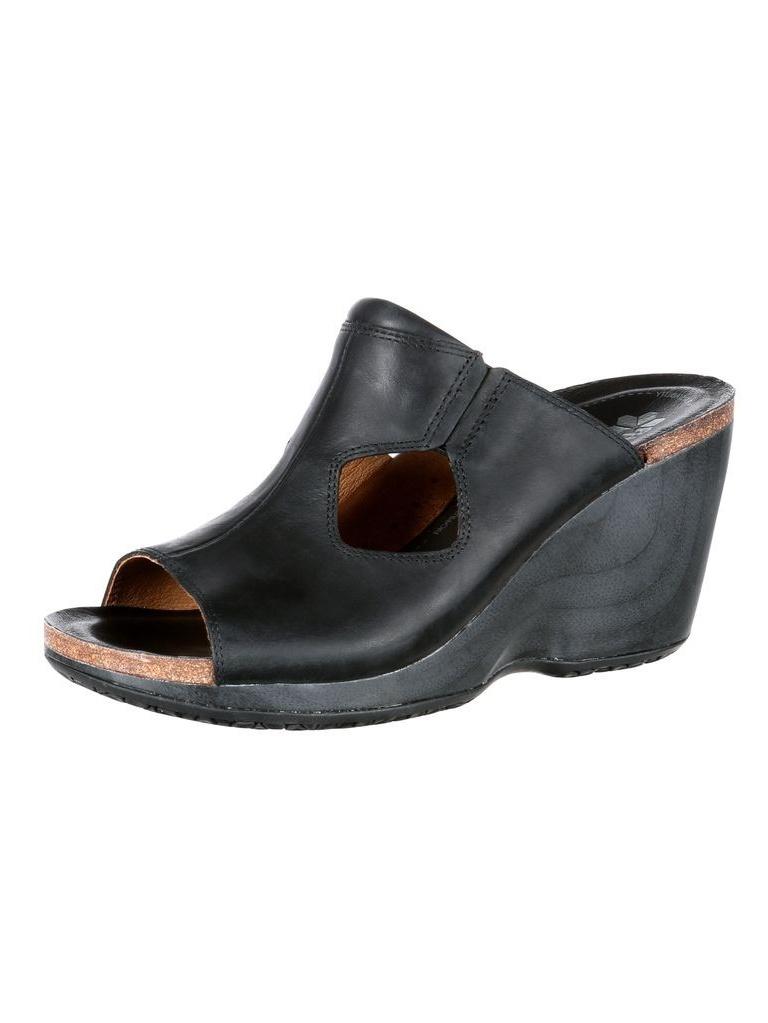 Rocky 4EurSole Casual Shoes Womens Joyful Slide Leather Black RKH081