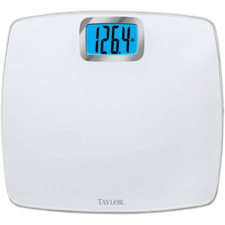 Taylor 7528 Digital Scale Clear Glass Bright White