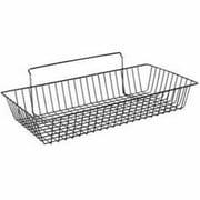 Lavi Industries 806772 Slat Wall Large Basket, Black Matte Black
