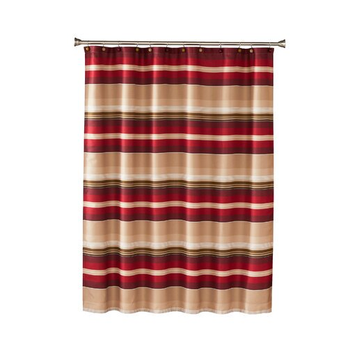 Saturday Knight Ltd Madison Stripe Single Shower Curtain Walmart Com Walmart Com