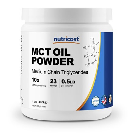 Nutricost Premium MCT Oil Powder .5LB - Best For Keto, Ketosis, and Ketogenic Diets - Zero Net Carbs - Made In The USA, Non-GMO and Gluten