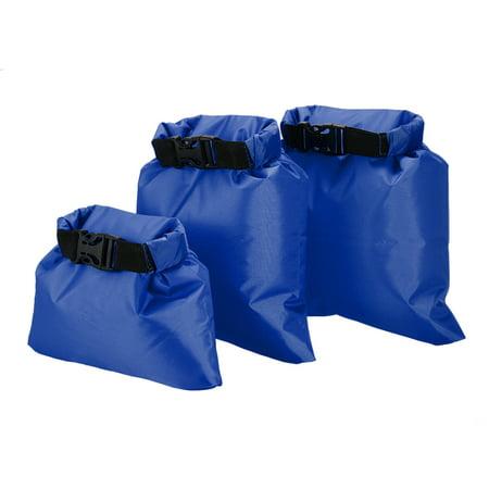 Lixada Pack of 3 1L+2L+3L Waterproof Dry Bag Outdoor Portable Ultralight Dry Sacks Camping Backpacking Kayaking