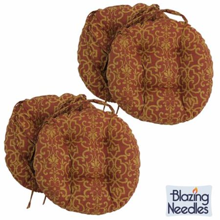 Blazing Needles 16 X 16 Inch Round Outdoor Chair Cushions Set Of 4 Lyndhurst Raven Reo 31