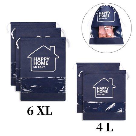 Shoe Bags Travel Storage Organizer Bag Waterproof Portable Drawstring Hanging For Men Women (Waterproof Shoe Bag)