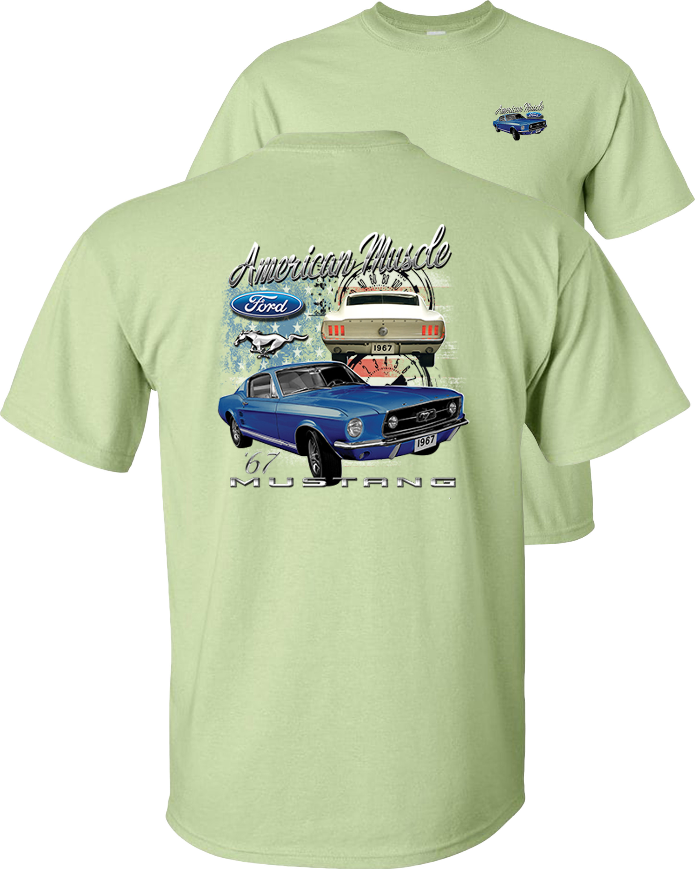 Ford Mustand The Legend Lives Logo Youth T-Shirt Classic Muscle Cars Kids Tee